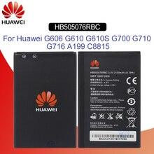 Original Battery For HUAWEI HB505076RBC 2150mAh For Huawei G606 G610 G610S G700 G710 A199 C8815 Y610 Replacement Phone Battery аккумулятор craftmann для huawei ascend g610 g700 g710 2050mah craftmann