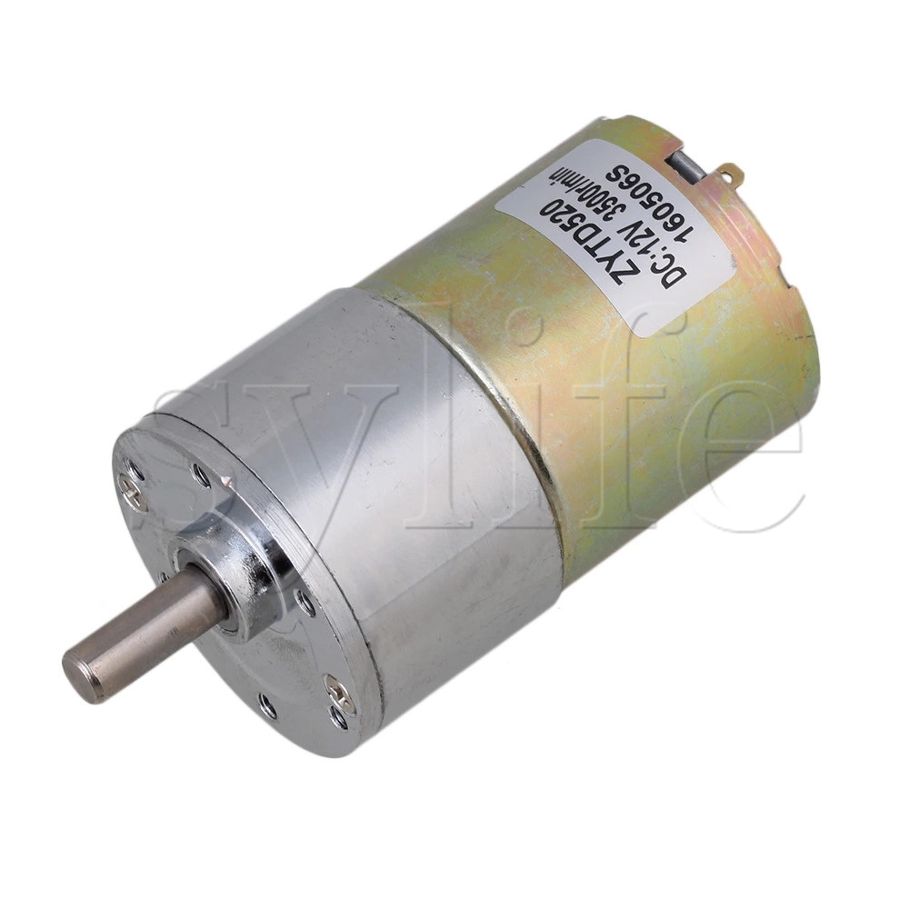 12V DC 60 RPM Gear-Box Speed control Electric Motor Low noise Dia 37mm