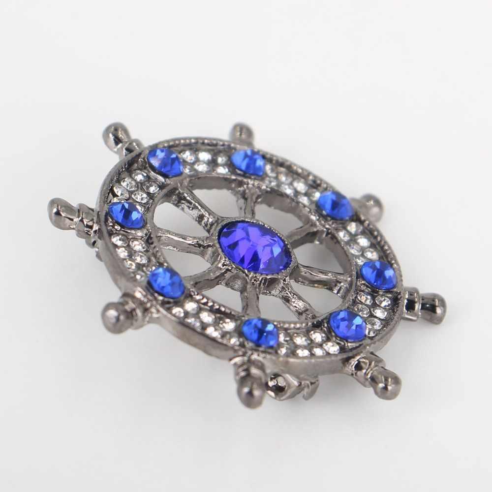 Kepribadian jangkar bros perhiasan untuk wanita/pria fashion perhiasan bros pins logam Syal Pernikahan hadiah diy Perhiasan aksesoris