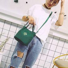 Large Pocket Casual Tote Womens Hasp Handbag Shoulder Canvas Handbags Cactus Print Reusable Shopping Bags