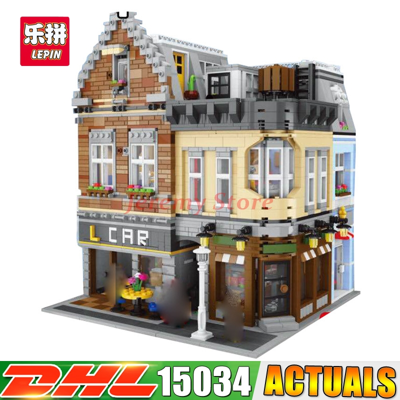 2017 DHL LEPIN 15034 4210Pcs Genuine Series MOC The New Building City Set Model Building Kits Blocks Bricks ynynoo lepin 02043 stucke city series airport terminal modell bausteine set ziegel spielzeug fur kinder geschenk junge spielzeug