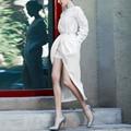RG Korea Style Pantskirt Women OL Suits Long Sleeve Blouse Top and Vented Pantskirt 2 Piece Set Suit Women Spring Summer 2017