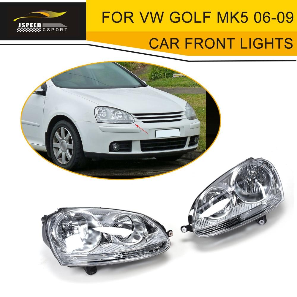 LHD ABS Car Head Lamp Auto Car Front Lights For VW Golf MK5 Standard Bumper LHD 2006-2009 видеорегистратор f880 lhd в самаре