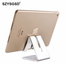 SZYSGSD Universal Aluminum Metal Cell Phone Tablets PC Desk Stand Holder For iPhone X 7 7 Plus 6 SE Charger Bracket For Samsung(China)