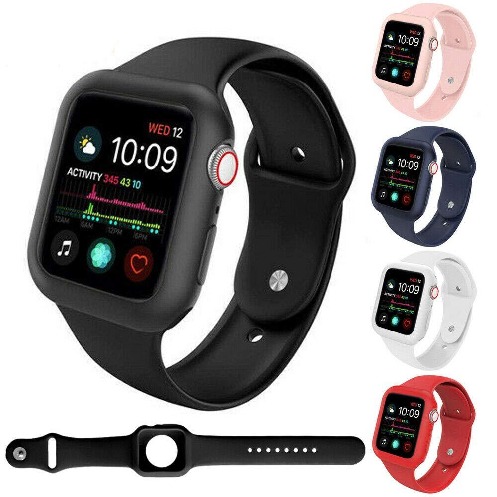 Силиконовый защитный apple watch 44 мм и браслет apple watch 40 мм спортивный ремешок Бампер протектор для iwatch 42 мм серии 3 2 1 38 мм Ремешки для часов      АлиЭкспресс