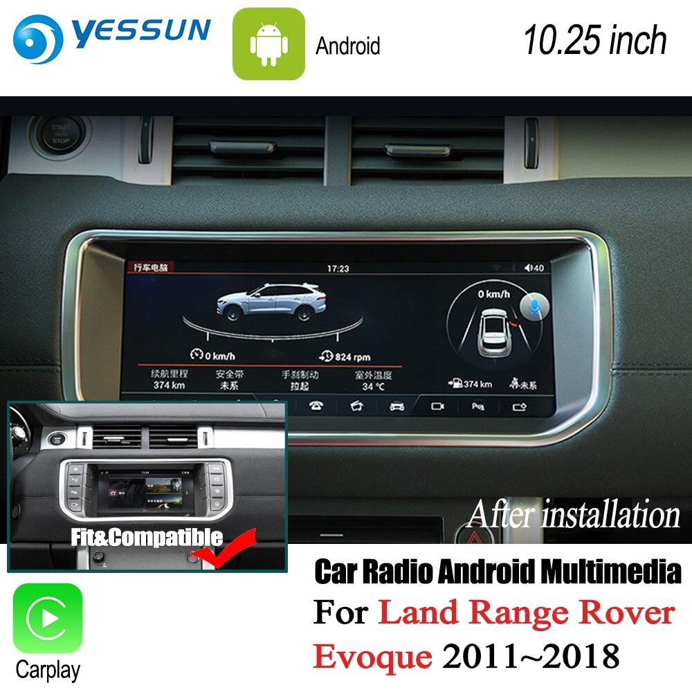 все цены на YESSUN For Range For Rover Evoque 2011~2017 Car Android Carplay GPS Navi maps Navigation Player Radio Stereo no DVD HD Screen