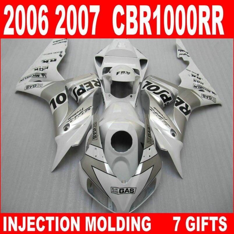moldeo por inyecci/ón GAS Repsol Kit para 2006 2007 CBR1000RR 06 07 1000 RR CBR CBR1000 buena calidad carenado de carenado de motocicleta