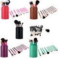 13 UNIDS Conjunto Pincel Maquiagem Pinceles de Maquillaje Sets Cosmética Profesional Cepillo de Cejas Polvos Lápices Labiales Sombras Colorete Maquillaje