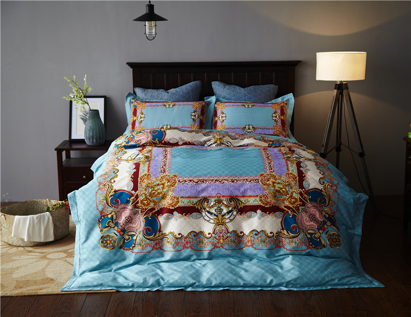 New Bedding Set Soft Egyptian cotton Bed Sheets boho Duvet Cover Flat Bedspread Sets Home Textile Juegos de Sabanas