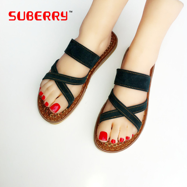 Women & Ladies The Handmake Embroidery Sandal Slipper Summer Shoes