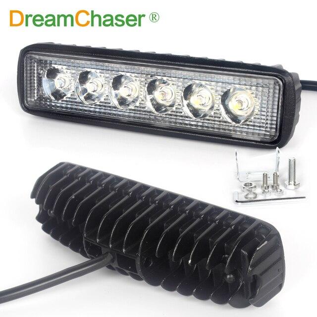 droom chaser 18 w 12 v led verlichting bar flood lamp rijden fog offroad led auto