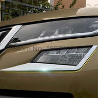 For Skoda Kodiaq 2016 2017 2018 ABS Chrome Head/Front Fog Light Lamp Cover Trim Frame Fog light Accessories 2PCS