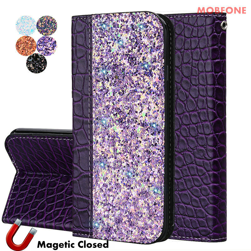 Bling Crocodile Luxury Skin for <font><b>Nokia</b></font> 5 6 7 Plus 8 <font><b>7.1</b></font> 8.1 X7 6.1 Plus Flip Stand Leather <font><b>Case</b></font> For <font><b>Nokia</b></font> 3.1 5.1 Magnetic Cover image