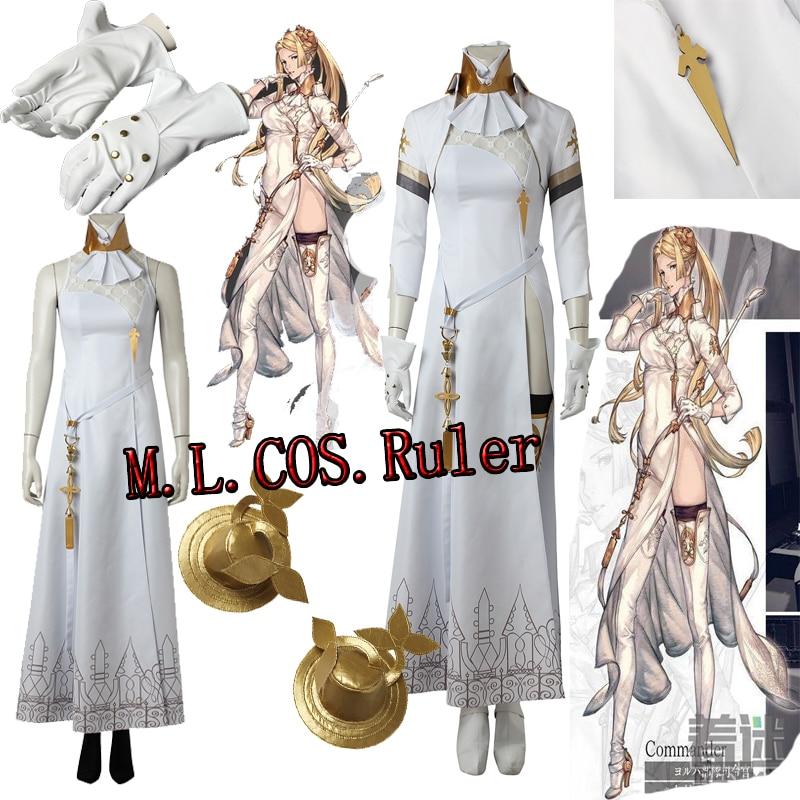 Exclusive NieR Automata Commander Cosplay Costume YoRHa Cheongsam Custom Made All Size Halloween Beatiful Women's Dress