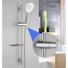 Replacement ABS Chrome Shower Rail Head Slider Holder Adjustable Bracket Bathroom Accessories