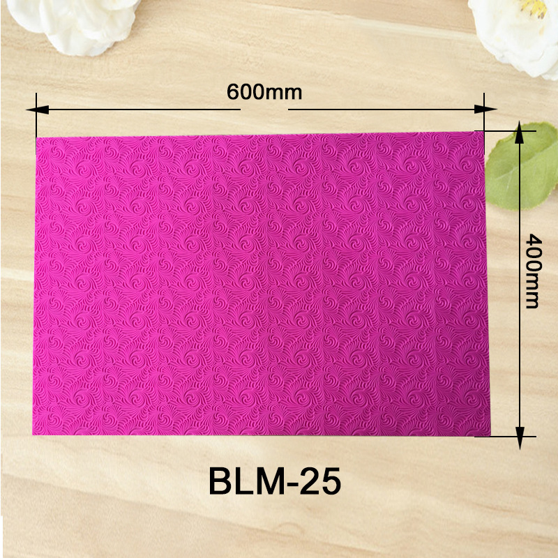 Image 3 - New Fondant Mould Spiral Pattern Lace Mat Impression Mats Silicone Lace Mat Cake Lace Mold Silicone Sugar Mat Decorative H857Cake Molds   -