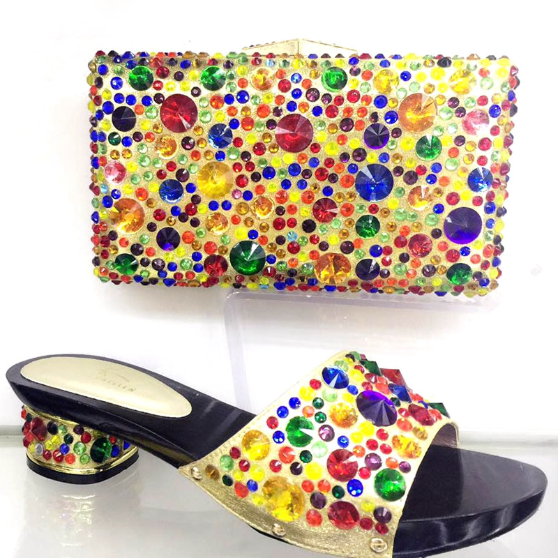 ФОТО African Shoes With Bags Set To Match Italian Shoe With Matching Bag For Party High Quality Fashion Women Heels Shoes TH17-13