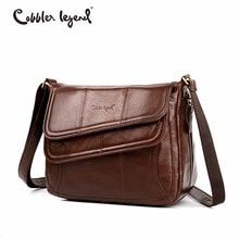 Cobbler Legend Flap Genuine Leather Bag Female Leather Handbags Brand Luxury Handbags Women Bags Designer Bags Sac a Main Femme