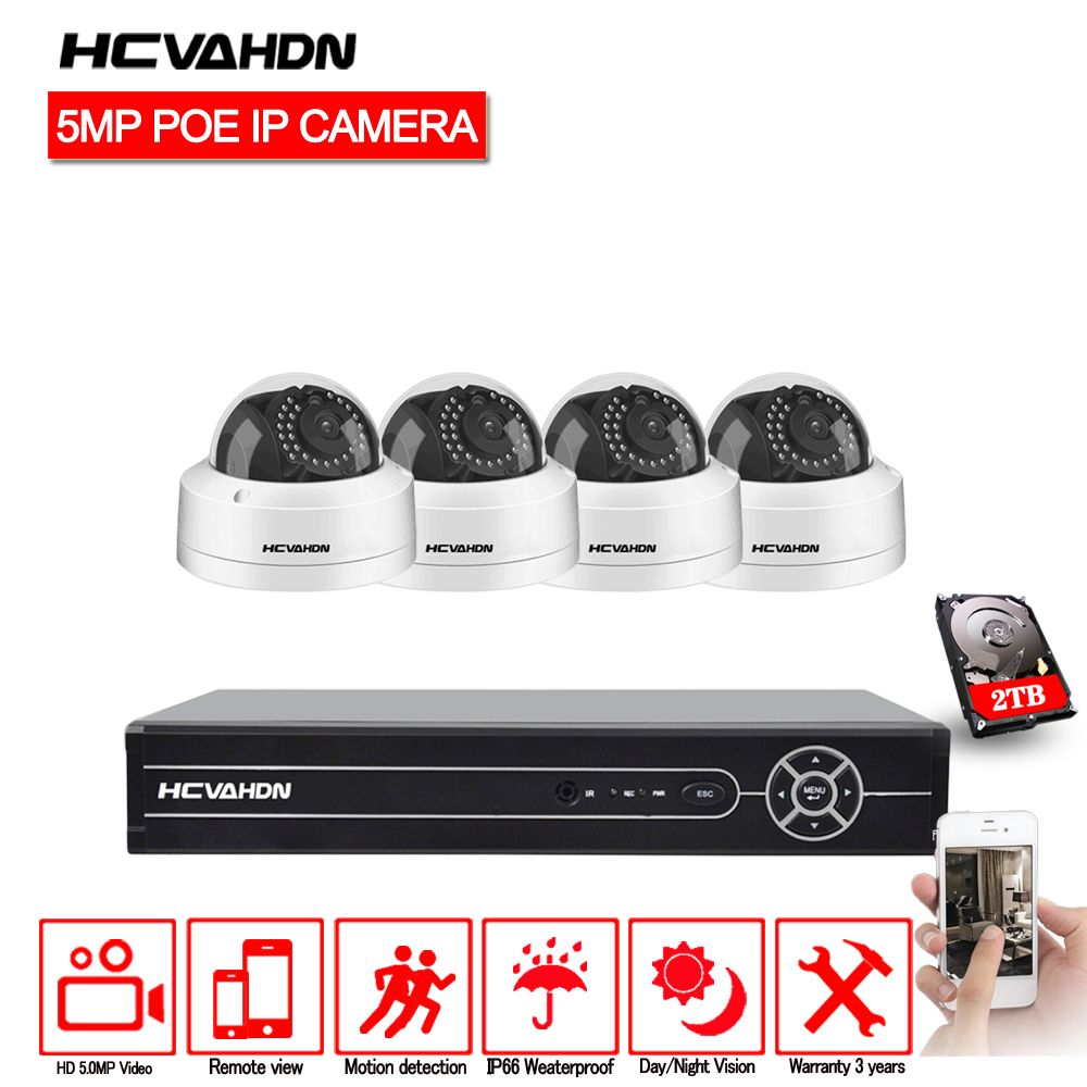 HCVAHDN H.265 8CH CCTV NVR system 5MP POE Kit IP66 Waterproof Indoor Outdoor IP camera Video Surveillance System Onvif IR-cutHCVAHDN H.265 8CH CCTV NVR system 5MP POE Kit IP66 Waterproof Indoor Outdoor IP camera Video Surveillance System Onvif IR-cut