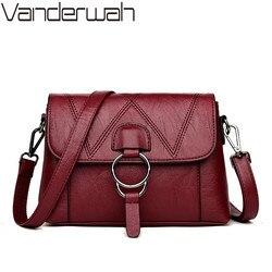 Дамы из натуральной кожаные сумочки дизайнерские роскошные сумки для Для женщин 2018 Для женщин сумка-мессенджер сумка Топ-ручка сумки лоску...