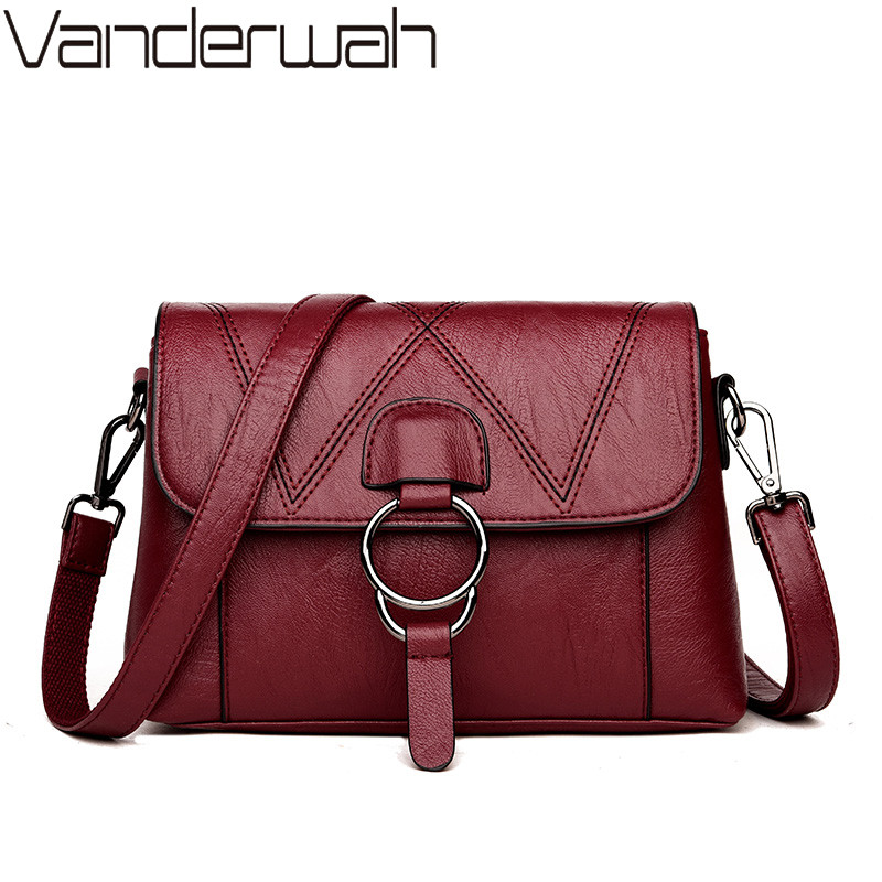 VANDERWAH NEW Women Leather Handbags Women Messenger Bags Designer Crossbody Bag Women Tote Shoulder Bag Top-handle Bags Flap new women genuine leather handbags shoulder messenger bag fashion flap bags women first layer of leather crossbody bags