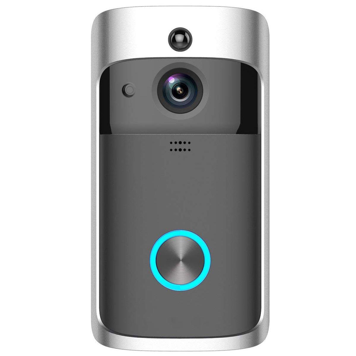 MOOL WiFi vidéo sonnette 720 P Smart Home sécurité caméra 2 voies Audio, Vision nocturne, objectif grand Angle, batterie puissance longue stand