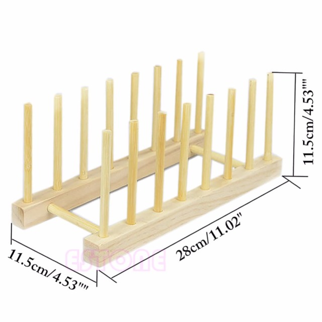Wooden Dish Drainer Plate Rack Holder Stand Plates Drying Storage 7 Section Rack  sc 1 st  AliExpress.com & Wooden Dish Drainer Plate Rack Holder Stand Plates Drying Storage 7 ...