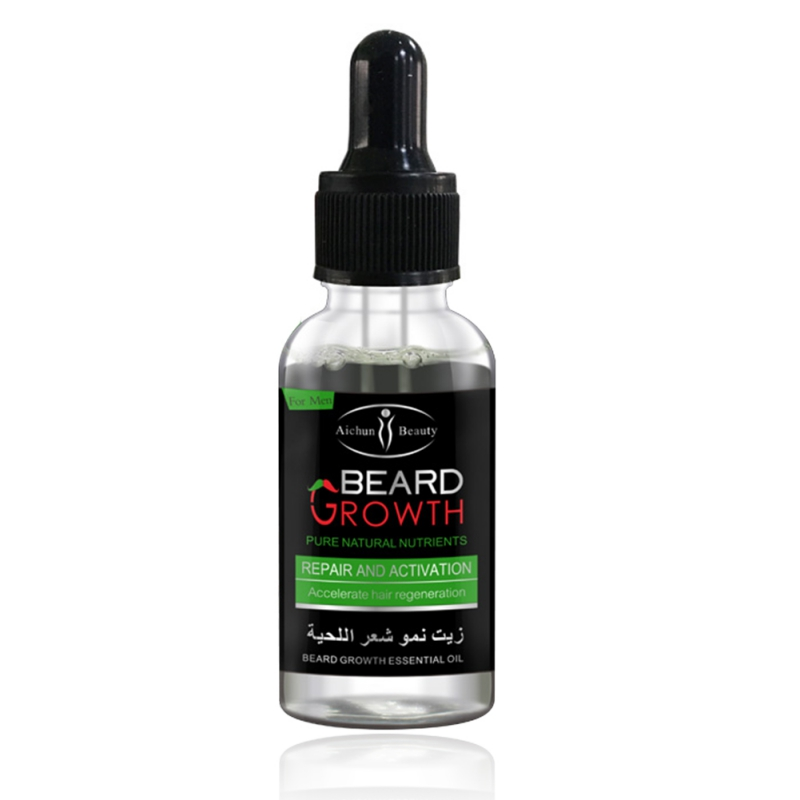 100% Natural Organic Beard Oil Beard Wax balm Hair Loss Products Leave-In Conditioner for Groomed Beard Growth New 5