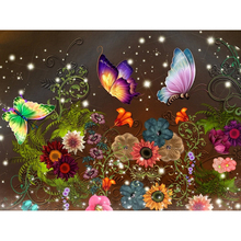 Full Square drill 5D DIY Diamond embroidery Curious butterfly Diamond Painting Cross Stitch Rhinestone Mosaic decoration diy diamond embroidery colorful butterfly diamond painting cross stitch full square round diamond embroidery rhinestone mosaic
