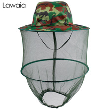 Lawaia Fishing Cap Anti-mosquito Sunscreen Comfortable Breathable Cotton Outdoor Men Visor Insect-proof Camping