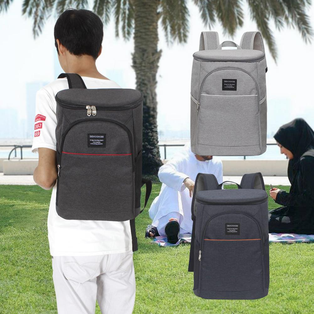 Waterproof Oxford Thickened Cooler Bags Eva Large Capacity Double Shoulder Travel Back <font><b>Pack</b></font> Thermal Insulated Bag <font><b>Lunch</b></font> Food Bag image