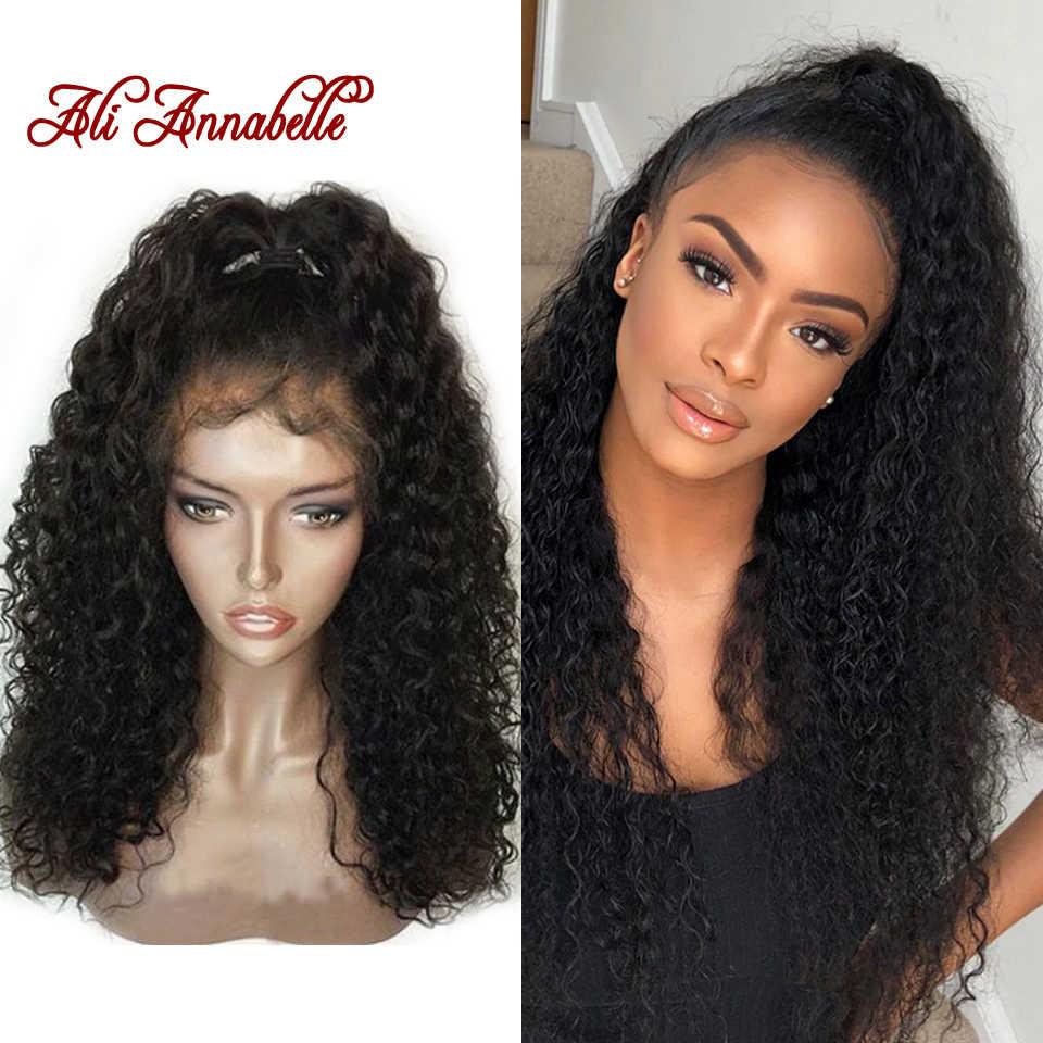 360 Синтетические волосы на кружеве человеческих волос парики предварительно сорвал Синтетические волосы на кружеве парик с волосами младенца Волосы remy перуанский Вьющиеся человеческих волос парик шнурка бесклеевого
