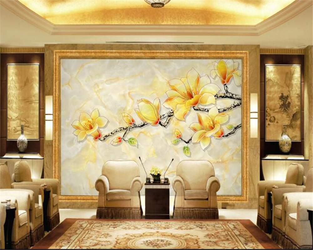 Beibehang 3D Wallpaper HD Chinese Style Marble Background Walls ...