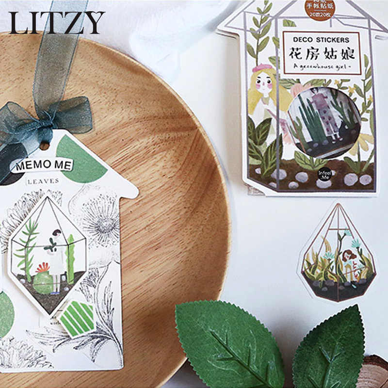 Mushroom Greenhouse Girl Decorative Stickers Adhesive Stickers DIY  Decoration Diary Stationery Journal Stickers Children Gifts
