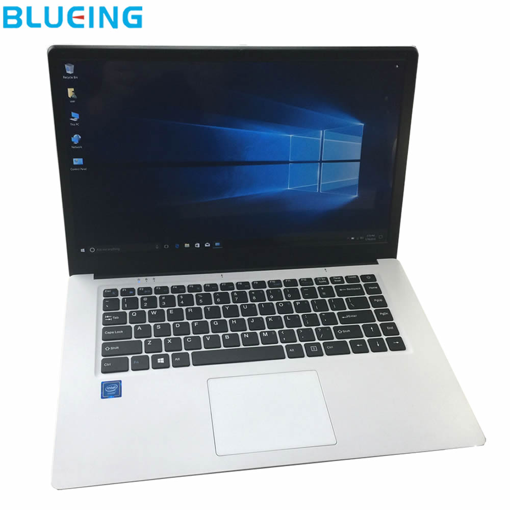 15.6 inch ultra slim laptop 2GB 32GB SSD large battery Windows 10 WIFI bluetooth notebook computer netbook PC free shipping