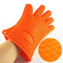 Silicone Gloves Barbecue Oven Glove Heat Resistant Thick Cooking BBQ Grill Glove Oven Mitt Baking Glove Kitchen Supplies