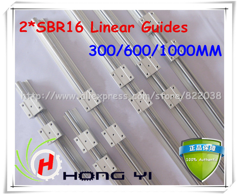2Pcs SBR16 Linear Guides -300mm/600mm/1000mm linear rails +12 pcs SBR16UU linear bearings (can be cut any length) linear bearings guides cpc linear guide linear guide unit