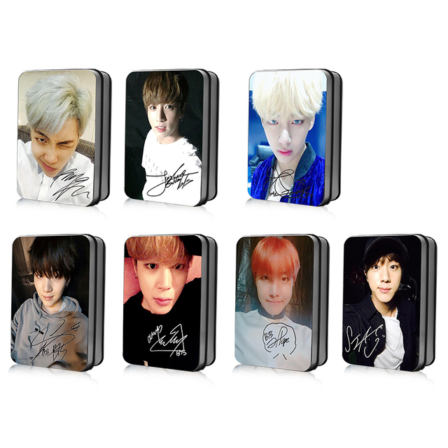 US $9 99 |[MYKPOP]BTS JUNGKOOK V JIN JIMIN SUGA J HOPE RM New Photo Card K  POP Paper Cards HD Polaroid Photocard SA18040410-in Action & Toy Figures
