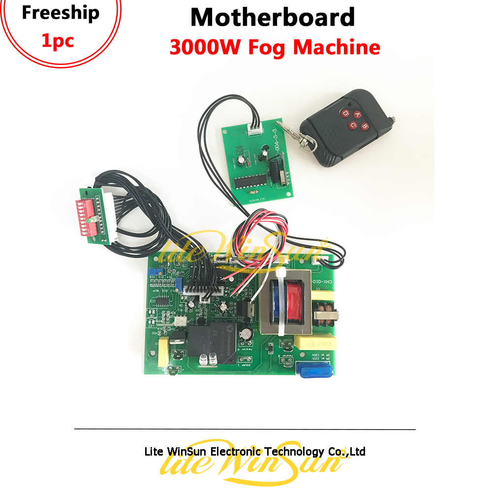 Litewinsune Freeship Motherboard For 3000W Fog Machine Remote Console Mainboard With DMX512 Control