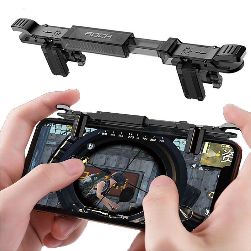 New Game Joystick joypad mobile for Phone Pubg Mobile Free Fire Aim Button Gaming Trigger Game Controller for pubg L1 R1 Shooter-in Gamepads from Consumer Electronics
