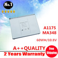 """Wholesale New Laptop battery replacement for apple MacBook Pro 15"""" A1260 A1175 MA348 MA348*/A  MA348G/A  MA348J/A  FREE SHIPPING"""