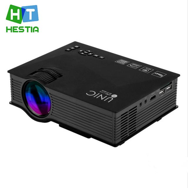 HESTIA 1200 lúmenes UC46 Portátil Mini LED Proyector de Cine En Casa Inalámbrico Se Conecta al Teléfono Inteligente Multimedia Digital de Videojuegos