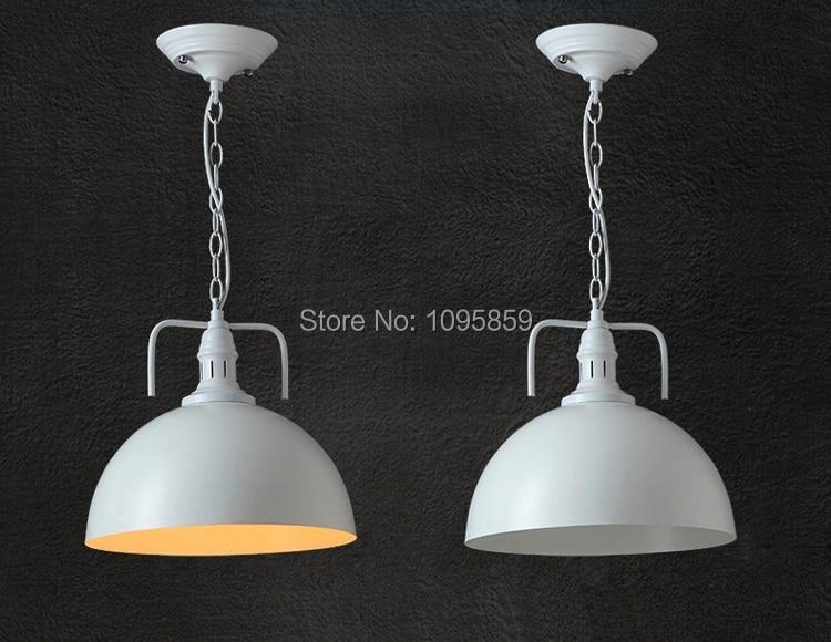 ФОТО Modern Black/White Metal Hat Pendant Lights Lamps Dining Room Half Ball Ceiling Fixtures Lighting