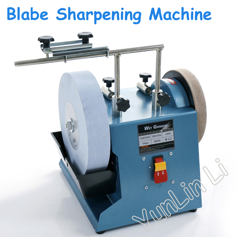 10 Inch Water-cooled Grinder Blabe Sharpening Machine 220 Mesh Grindstone Grinding Machine Knife Scissors Grinding Tools