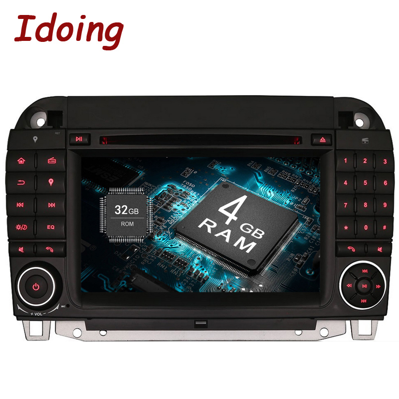 Idoing 2 din Android 8.0 4G+32G 8Core For MercedesBenz CL55 600 Car Radio Dvd Player Steering Wheel Video WiFi 3G TV Fast Boot