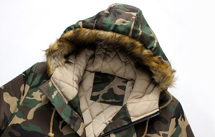 Aolamegs Camouflage Winter Parka Men Thicken Warm Fur Collar Cotton-padded Jacket Outerwear 2016 Lovers Hooded Winter Coat S-5XL (1)