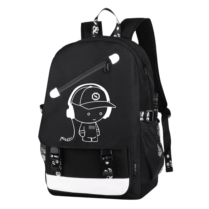 School Backpack Student Luminous Animation Usb Charge Changeover Joint High School Bags Teenager Anti-Theft Backpack