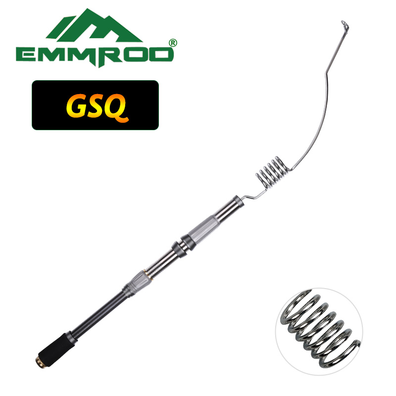 EMMROD Lengthened Bait Casting Rod Packer Rod Compact Fishing Pole Cast Rod Stainless Portable Ice Fishing rod Boat Raft Rod GSQ new packer casting pole eva pistol grip handle excellent for bait casting fishing rod trolling fishing rod