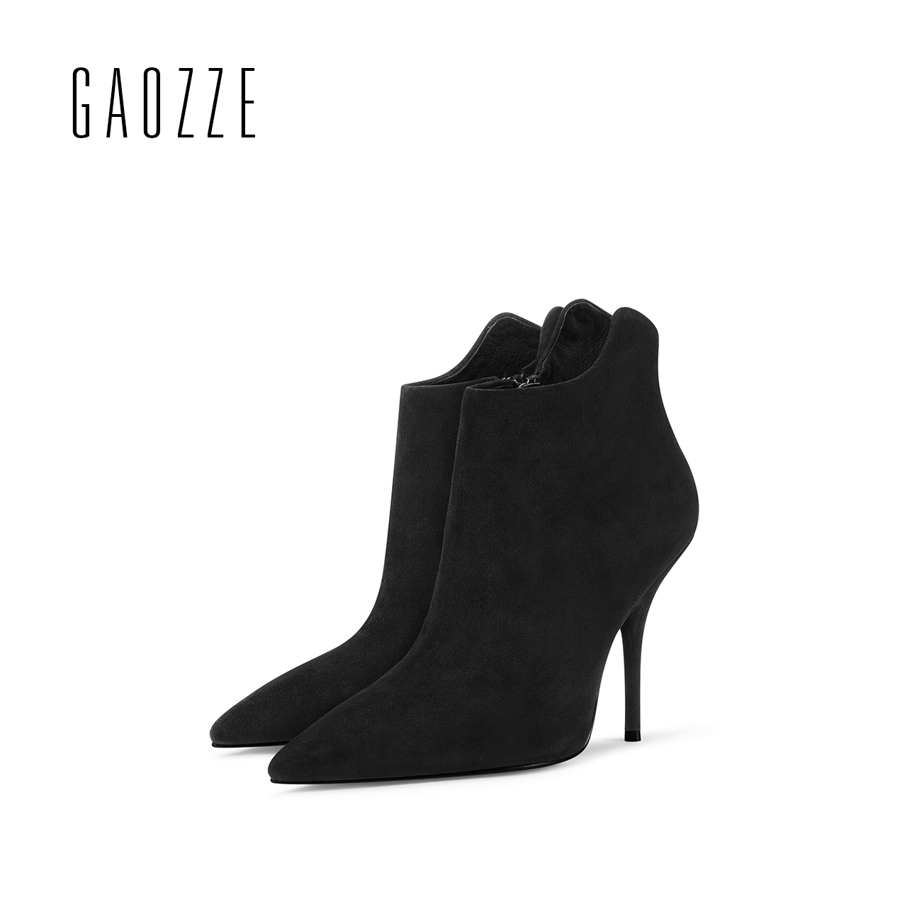GAOZZE women ankle boots shoes female pointed toe side zipper sexy high heels boots 2017 autumn new ankle boots para mulheres стоимость