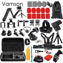 Vamson для Xiaomi 4 К Аксессуары Набор для GoPro Комплект 3 Way монопод selfie stick для GoPro Hero 5 4 3 + для Xiaomi для Yi Камера VS53